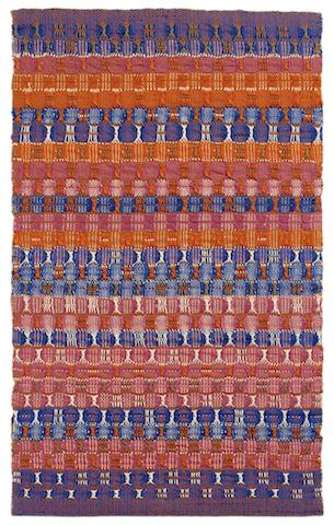 Anni Albers, Red and Blue Layers (1954). © Kunstsammlung NRW.