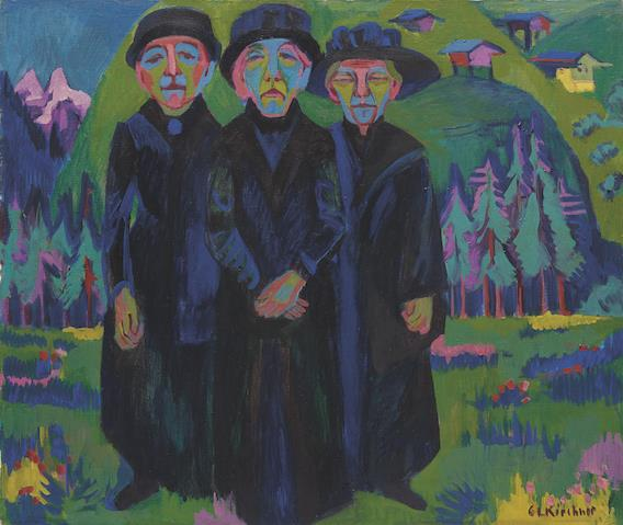 Ernst Ludwig Kirchner, Tres ancianas (1925-26). © Kirchner Museum Davos.