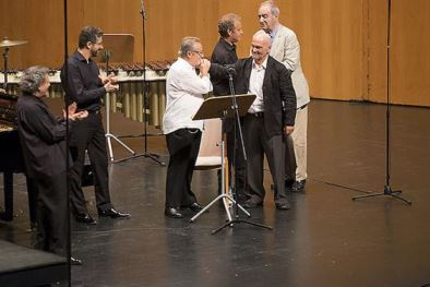 José Ramón Encinar, Javier Negrín, Manuel Galiana, Luciano González Sarmiento, Antonio Domingo y Tomás Marco