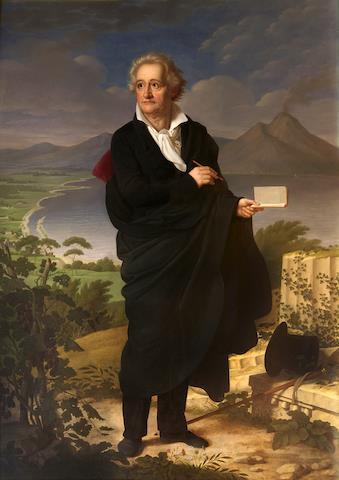 Christoph Heinrich Kolbe, Goethe en el golfo de Nápoles (1826). © 2019 by Jan-Peter Kasper.